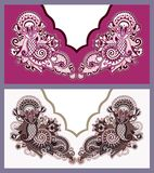 Neckline ornate floral paisley embroidery fashion Stock Photography
