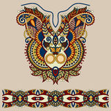 Neckline ornate floral paisley embroidery fashion Stock Images