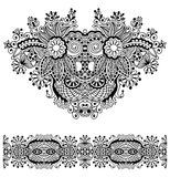 Neckline ornate floral paisley embroidery fashion Royalty Free Stock Images