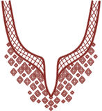 Neckline projekta ilustracyjna moda Fotografia Stock
