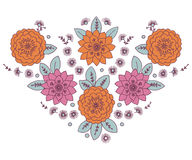 Neckline Woman Floral. Design Design Art Abstract Doodle Stock Photos