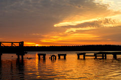 Necko lake, Poland, Masuria, podlasie. Necko lake at sunset time, masuria, Poland stock photos