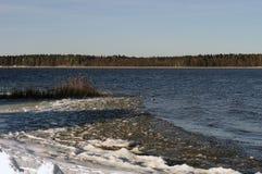 Necko sjö, Polen, Masuria, podlasie Arkivbild