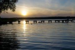 Necko sjö, Polen, Masuria, podlasie Arkivbilder