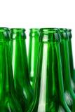 Necks of  beer bottles Royalty Free Stock Image