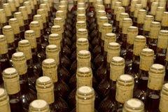 Necks bottles of wine. Necks bottles of red wine Stock Photography
