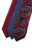 Necktie. Three necktie blue and red on isolated Royalty Free Stock Images