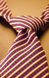 Necktie. Closeup of a necktie with with stripes Stock Photography