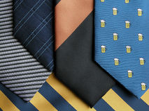Necktie. Various tie Royalty Free Stock Images