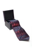 Necktie in box. Opened gift box with a necktie Royalty Free Stock Images