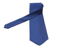 Necktie with clipping path. Blue silk tie Royalty Free Stock Images