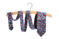 Necktie on Clothes Hanger Royalty Free Stock Images