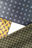 Necktie composition. Geomietric necktie composition, three elements Royalty Free Stock Photography