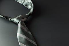 Necktie on dark background Royalty Free Stock Images