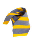 Necktie grey and yellow Royalty Free Stock Photography