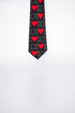 Necktie with heart Stock Image