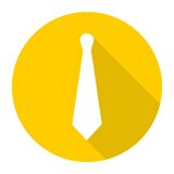 Necktie icon with long shadow Stock Photography