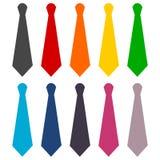 Necktie icons set Royalty Free Stock Image