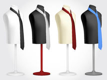 Necktie on mannequin template. Blank neckties on mannequin template Stock Image