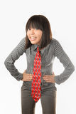 necktie red smiling student Стоковые Фотографии RF