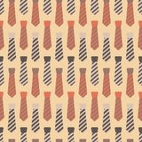 Necktie Seamless Pattern vector illustration