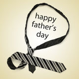 Necktie and sentence happy fathers day Stock Images