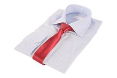 Necktie on a shirt Stock Photography