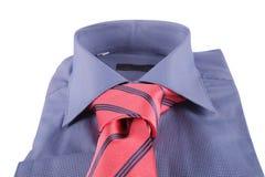 Necktie on a shirt Stock Photo