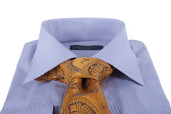 Necktie on a shirt Royalty Free Stock Images