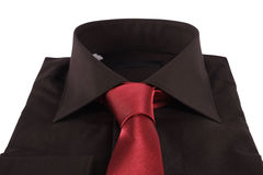 Necktie on a shirt Stock Images