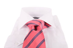 Necktie on a shirt Royalty Free Stock Image