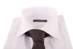Necktie on a shirt Stock Photos