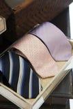 Necktie showcase shelf Royalty Free Stock Photography