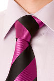 Necktie and suit close up Royalty Free Stock Image