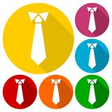Necktie, vector illustration icons set Stock Images