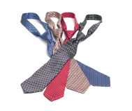 Neckties 2. Four neckties of various colors Royalty Free Stock Image