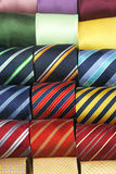 Neckties. Colourful neck ties assortment made from silk Royalty Free Stock Image