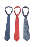 Neckties 3. Three neckties of various colors Royalty Free Stock Images