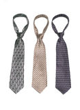 Neckties 4. Three neckties of various colors Stock Photo