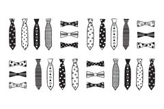 Neckties & Bow Ties Vector Clip Art Royalty Free Stock Images