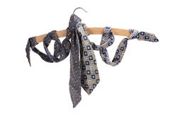 Neckties and Clothes Hanger Stock Images