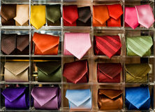 Neckties display Royalty Free Stock Images