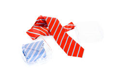 Neckties and gift boxes Royalty Free Stock Photos