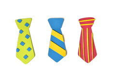 Neckties paper cut on white background Royalty Free Stock Photography