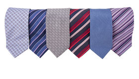 Neckties in a row Stock Photo