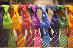 Neckties in the shop. Men fashion concept Royalty Free Stock Images