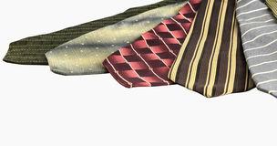 Neckties stack Royalty Free Stock Photography