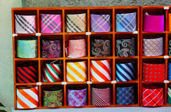 Neckties in the store Stock Photography