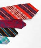 Neckties on White Cloth Stock Image