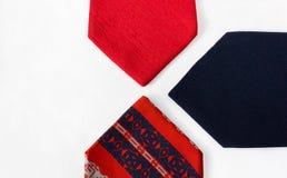 Neckties on White Cloth Royalty Free Stock Photos